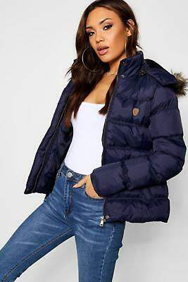 boohoo NEW Womens Short Quilted Jacket in