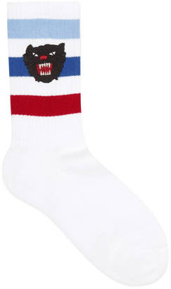 Stretch cotton socks with panther $95 thestylecure.com
