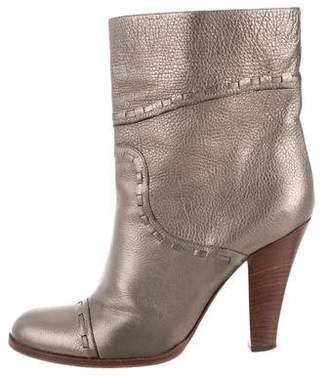 Marc Jacobs Metallic Leather Ankle Boots