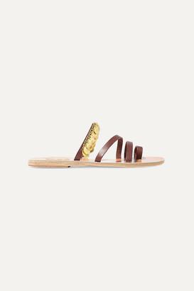 Ancient Greek Sandals Faye Embellished Leather Sandals - Brown