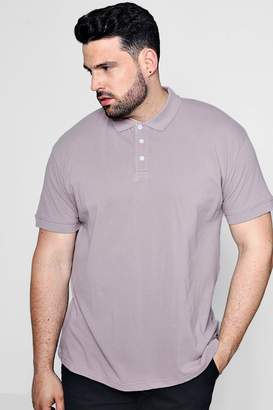 boohoo Big And Tall Short Sleeve Pique Polo