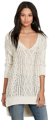 Ralph Lauren Denim & Supply Cable-Knit V-Neck Sweater $145 thestylecure.com