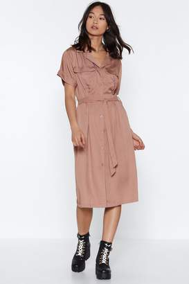 Nasty Gal It's Worth a Tie Utility Dress