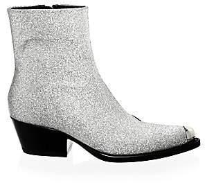 Calvin Klein Women's Terrane Diamond Glitter Leather Booties