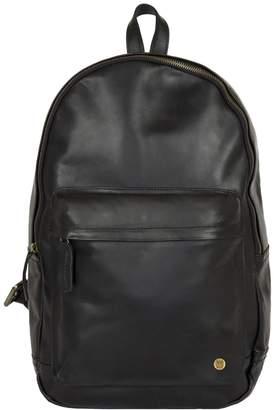 MAHI Leather - Leather Classic Backpack Rucksack In Black Leather