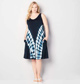 Avenue Angled Tie Dye A-Line Dress