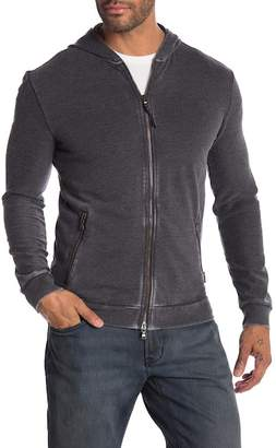 John Varvatos Washed French Terry Zip-Up Hoodie