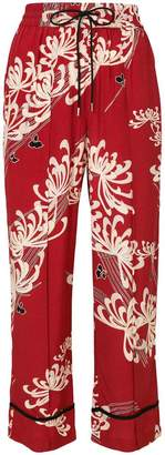 McQ floral print cropped trousers