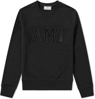 Ami Collegiate Patch Logo Crew Sweat