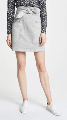 Rebecca Taylor Denim Knot Skirt