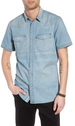 Treasure & Bond Slim Fit Western Denim Shirt