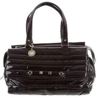 Lanvin Quilted Patent Leather Shoulder Bag