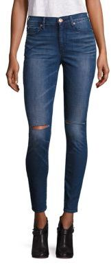 True Religion Halle Super Skinny Knee Slit Jeans $199 thestylecure.com