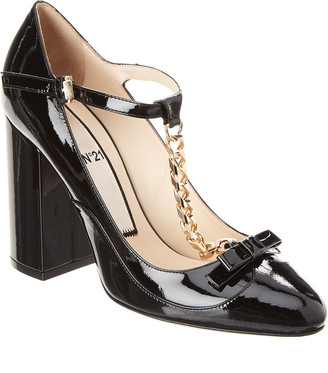 N°21 N21 Patent Chain Mary Jane Pump