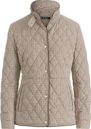 Ralph Lauren Quilted Houndstooth Jacket