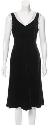 Giorgio Armani Velvet Contrast-Trimmed Evening Dress