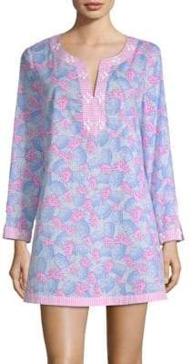 Vineyard Vines Embellished Pineapple-Print Tunic Coverup