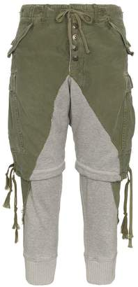 Greg Lauren zip shorts cotton trousers