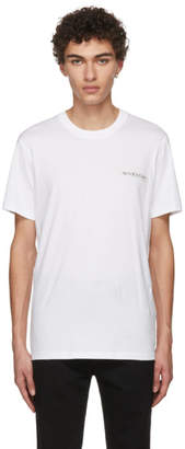Givenchy White Sequin Logo T-Shirt