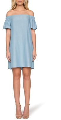 Women's Willow & Clay Off The Shoulder Minidress $89 thestylecure.com