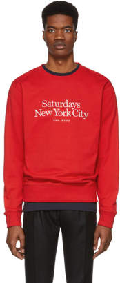 Saturdays NYC Red Miller Standard Bowery Sweatshirt