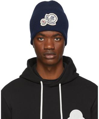 Moncler Blue Knit Beanie