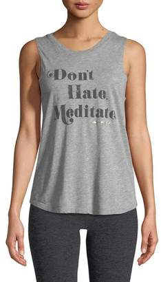 Spiritual Gangster Meditate Crewneck Muscle Graphic Tank