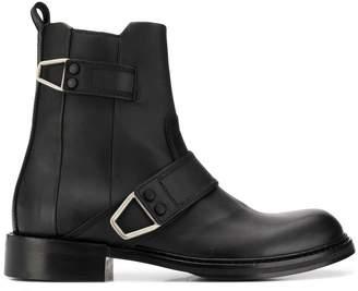 Diesel boots with wraparound fastening