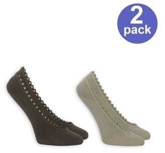 Dr. Scholl's Women's For Her Fashion Fit Ghost Liner Socks 2 Pack
