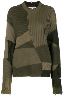 Helmut Lang (ヘルムート ラング) - Helmut Lang パッチワーク セーター