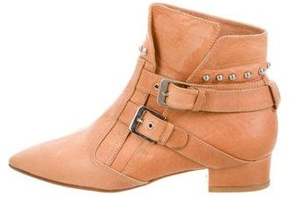 Laurence Dacade Leather Stud-Embellished Booties $245 thestylecure.com