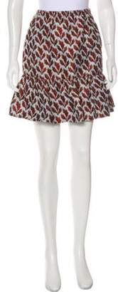 Philosophy di Lorenzo Serafini Flared Knee-Length Skirt Blue Flared Knee-Length Skirt