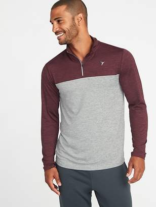 Old Navy Color-Blocked Go-Dry 1/4-Zip Pullover for Men