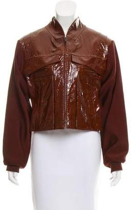 Alexander Wang Leather and Neoprene Jacket