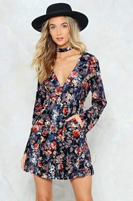 Nasty Gal The Craft Floral Velvet Dress