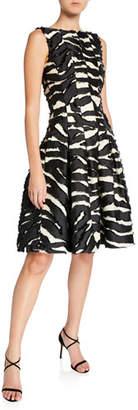 Oscar de la Renta Zebra Print Day Dress