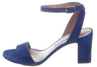 Tabitha Simmons Peep-Toe Mid-Heel Sandals
