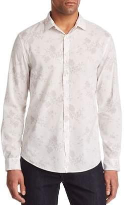 John Varvatos Collection Floral Print Regular Fit Button-Down Shirt