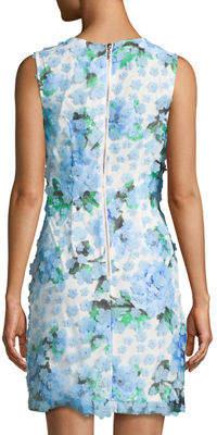 Karl Lagerfeld Paris Mixed-Floral Sleeveless Shift Dress