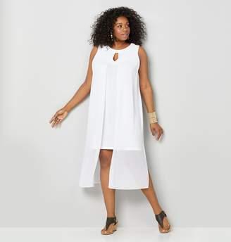 Avenue Plus Size Split Front Flyaway Midi Dress
