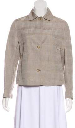 Akris Plaid Button-Up Jacket