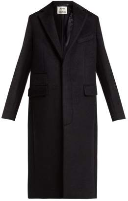 Acne Studios Single Breasted Mohair Blend Coat - Womens - Navy