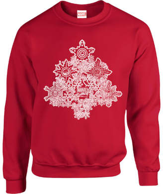 Marvel Comics Shields Christmas Tree Red Christmas Sweatshirt