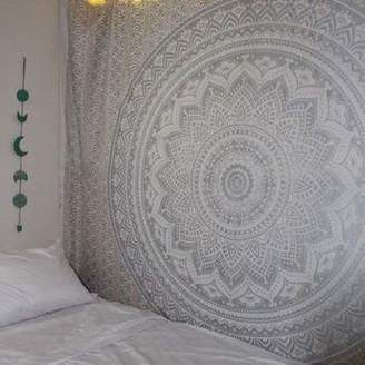 Popular Handicrafts New Launched Kp624 Ombre Tapestry Mandala Hippie Wall Hanging Bohemian Bedspread with Extra Metallic Shine Tapestries 84x90 Inches Exclusively