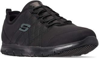 Skechers Women Work Relaxed Fit: Ghenter - Srelt Slip Resistant Wide Width Athletic Work Sneakers from Finish Line