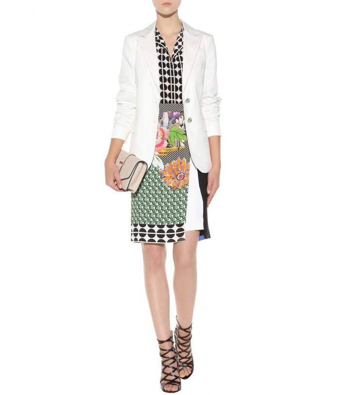 Etro Printed crepe pencil skirt