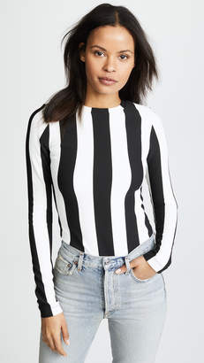 Gold Sign The Wide Stripe Bodysuit