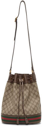 Gucci Brown GG Supreme Ophidia Bucket Bag