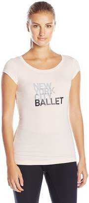 Danskin Women's New York City Ballet Cap Sleeve Tee