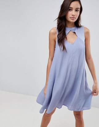 Bellfield Amor Cut Out Turtlenck Swing Dress